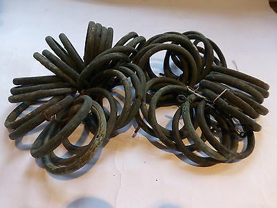 47 antique curtain rings in brass - salvage
