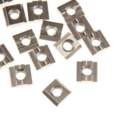 20pcs M8 T Sliding Nut Block Slot for 30 Series Nickel-Plated Carbon Steel