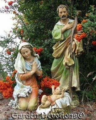 THE BEST NATIVITY SET YET! 3 pc Beautiful 27'' Indoor Outdoor Resin YARD STATUES