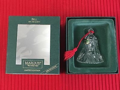 Waterford Marquis BELL 2001 ORNAMENT Limited Edition Exclusive In Box