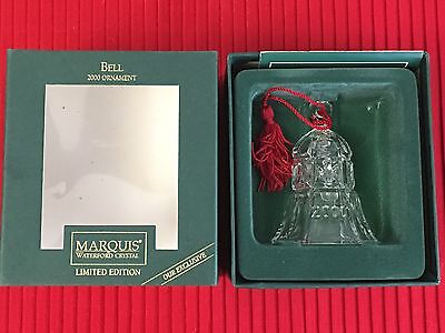 Waterford Marquis BELL 2000 ORNAMENT Limited Edition Exclusive In Box
