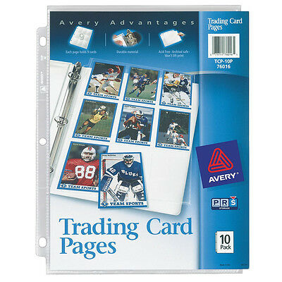 Avery 76016 Trading Card Pages (Pack of 30)