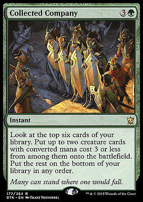 COLLECTED COMPANY NM mtg Dragons of Tarkir Green - Instant Rare