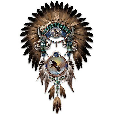 BEAUTIFUL HEADDRESS eagle EAGLES NATIVE AMERICAN STYLE WOLF DREAM CATCHER NEW