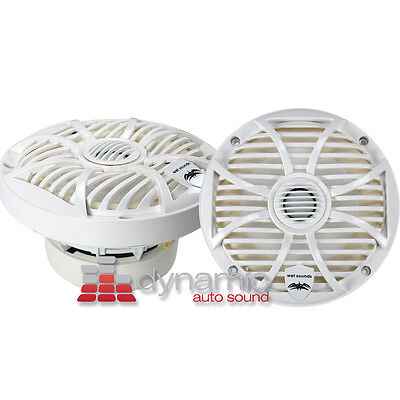 "WET SOUNDS SW-650W 6-1/2"" Marine Boat Coaxial Speakers 2-Way (White Color) New"