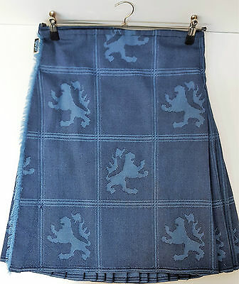 "Ex Hire 30"" waist 22""drop Lion Rampant 8 Yard Wool Kilt A1 Condition"