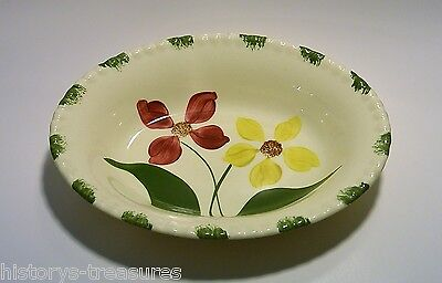 Blue Ridge Southern Potteries Showgirl Oval Serving Bowl