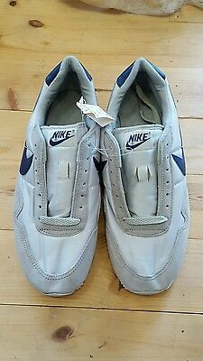 NOS vtg 1986 Nike gray and navy sneakers, sz 9