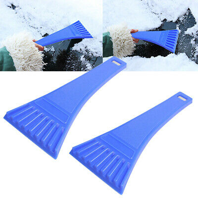 2x Portable Car Vehicle Windshield Snow Ice Shovel Scraper Cleaning Tool Blue