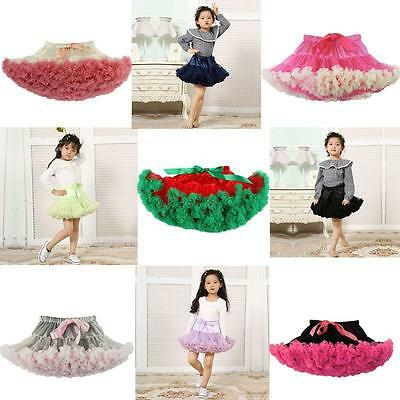 Baby Girl Tutu Fluffy Party Skirt Soft Princess Ballet Pettiskirt Kids Dancewear