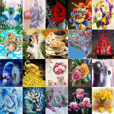 Colorful DIY 5D Diamond Painting Embroidery Cross Stitch Kit Home Decor Craft