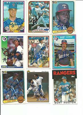 Texas   Rangers    9     Card   Autographed   Lot