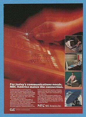 1985 NEC America Vintage Computer Communications Great Art Photo Ad