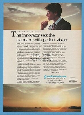 1985 Software AG VAX Machines Vintage Computer Thinking Photo Ad