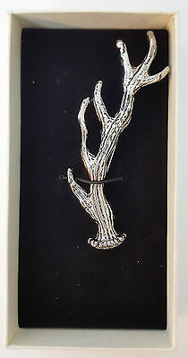 Scottish Antler Chrome Kilt Pin New Gift Boxed Sale Price