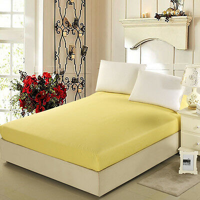 Single/Queen/King Size Fitted Sheet Pillowcases Flat Sheet 100% Cotton New