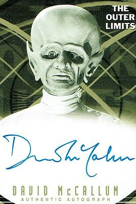 "OUTER LIMITS Auto Card A14 DAVID McCALLUM The Sixth Finger 2001 Mint  ""SALE"""