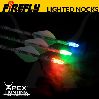 Apex Firefly Lighted Arrow Nocks - LED Glow Nock for Bowhunting and Archery