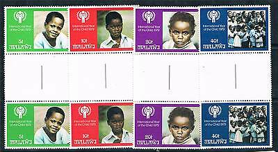 Malawi 1979 Year of the Child GUTTER PAIRS SG 602/5 MNH