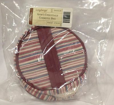 Longaberger Mothers Day Mom's Essentials Cosmetic Bag Market Stripe New