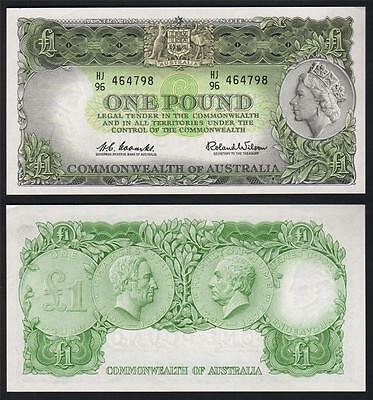 Australia R-34. (1961) One Pound.. Coombs/Wilson.. Reserve Bank.. UNC