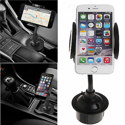 Universal Cup Holder Cradle Car Mount Adjustable For Cell Phone iPhone Samsung
