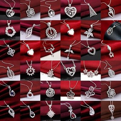 925Solid Sterling Silver Jewelry Pendant Necklace Chain Jewellery Xmas gift
