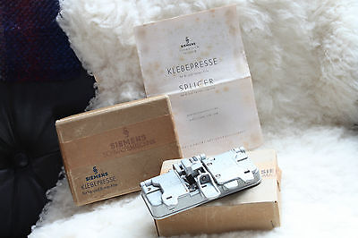 Rare Vintage Siemens 8 and 16 mm Film Splicer Editing Plate Boxed & Manual