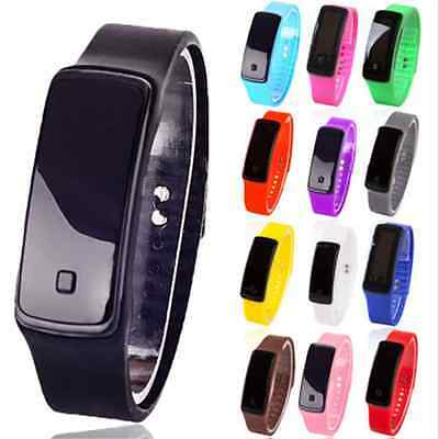 Newest Digital LED Sports Watch Unisex Silicone Band Wrist Watches Men Women FT