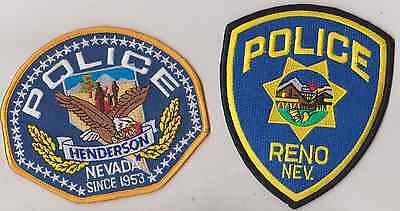 Reno & Henderson NV Police patches