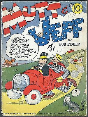 Us Comics Mutt And Jeff #1-115 Classic Golden Age Humour Collection On Dvd