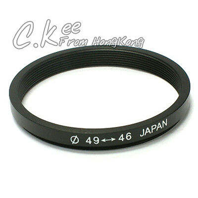 49mm to 46mm 49-46mm Male-Famale Step-Down Lens Filter Hood Cover Ring Adapter