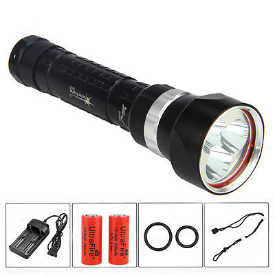 5000LM SolarStorm 3x XM-L2 LED 100M Diving Scuba Flashlight 18650/26650 Torch