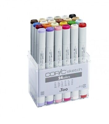 COPIC SKETCH Marker 24er BASIS SET  - Grundausstattung   + FARBKARTE GRATIS