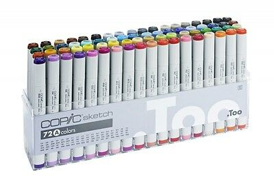 COPIC SKETCH Marker 72er BASIS Set  A   + FARBKARTE GRATIS