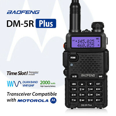 Baofeng DM-5R * Plus * DMR VHF/UHF Dual Band Radio RICETRASMITTENTE Time Slot 1