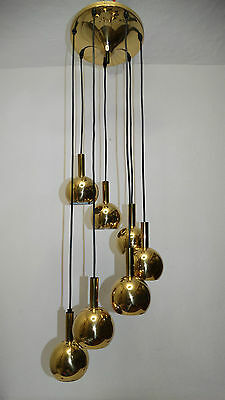 60 70er sarfatti lampe 24 flam l ster messing brass gold for Lampen 70er style