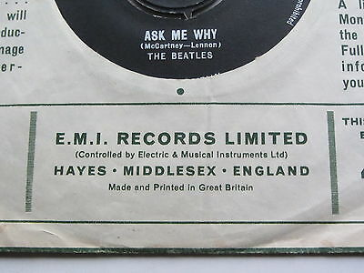 The Beatles Orig 1963 Uk 45 Please Please Me Ex   In Rare  Instruments Sleeve