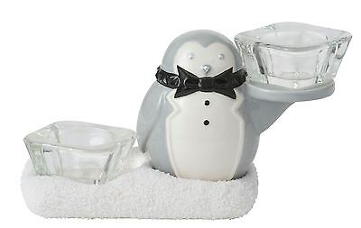 Yankee Candle Jackson Frost & Party Penguin Double Tea Light Holder 1521476