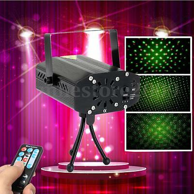 R&G Mini Xmas Party Light Projector DJ Disco LED Stage Laser Lamp W/ Remote Box