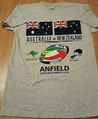 Australia v New Zealand Rugby League T Shirt -Four Nations Final At Anfield -S