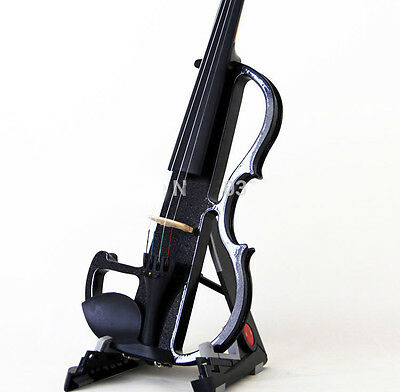 * Black High Quality Musical Instruments Hand Carved Solid Wood Electric Violin