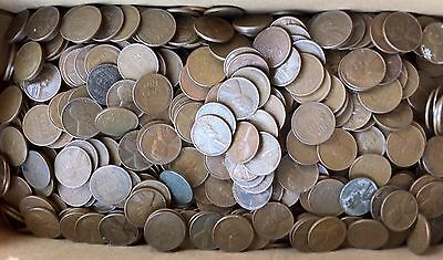 Lot of 500 mixed date Lincoln wheat cents!
