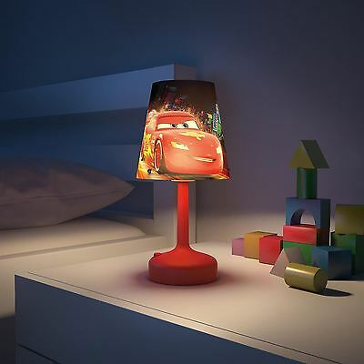 Disney Cars Red Portable Table Lamp Kids Red Black Bedroom Lighting Free P+P