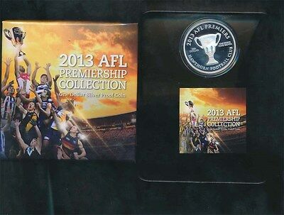 Australia: 2013 $1 AFL Hawthorn 1oz Proof Silver, $115 Issue price, Scarce Proof