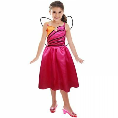 Barbie Doll Mariposa & The Fairy Princess Fancy Dress Costume Outfit 3-5 Years