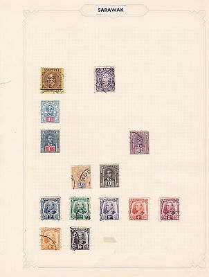 Sarawak    Mounted Mint And  Used  Stamps On Album Pages  Ref R1237
