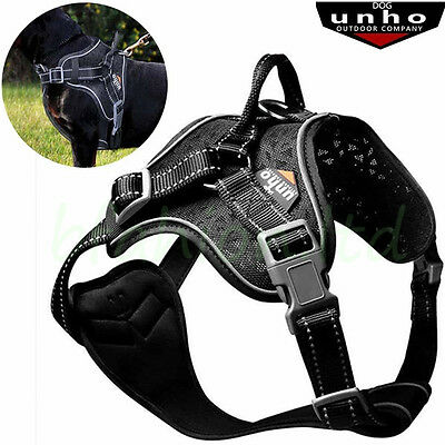 Comfort Soft Mesh Padded Non Pull Dog Harness Vest Reflective Outdoor Adventure