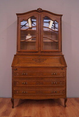 1178!! Amazing Oak French Display Cabinet/bookcase In Louis Xv Style !!
