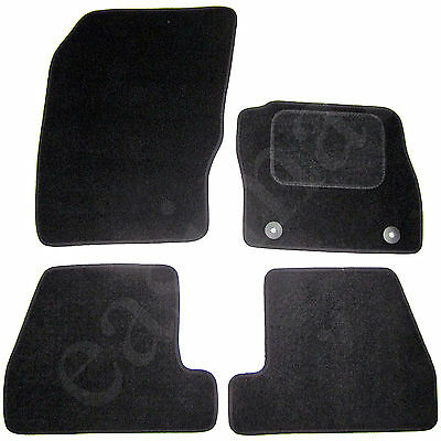 Ford Focus Mk3 2011 onwards Tailored Carpet Car Mats Black 4pcs Floor Set